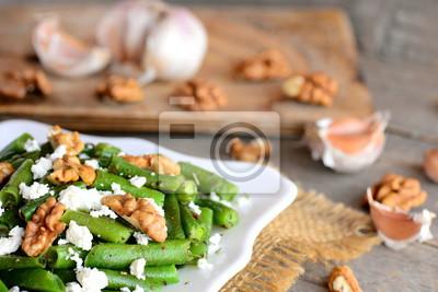 gesunde gr ne bohnen salat mit balsamico dressing warmer. Black Bedroom Furniture Sets. Home Design Ideas