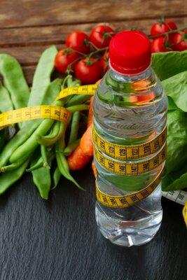 Fototapete Gesunde Lebensmittel auf dem Tisch