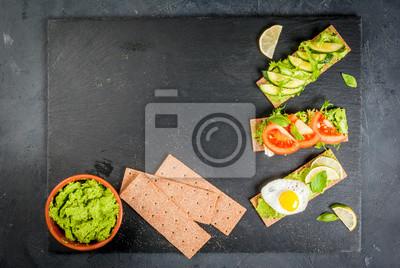Gesundes Essen Diät Sandwiches Auf Glutenfreie Brote Mit