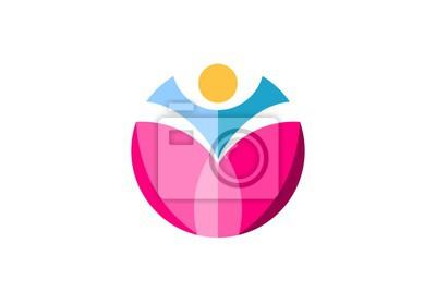 Gesundheit Menschen Herz Logo Wellness Menschlichen Herz Symbol