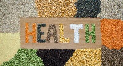 Fototapete Gesundheit und Gesundheit Lebensmittel - Getreide, Samen, Hülsenfrüchte, Reis - organisch.