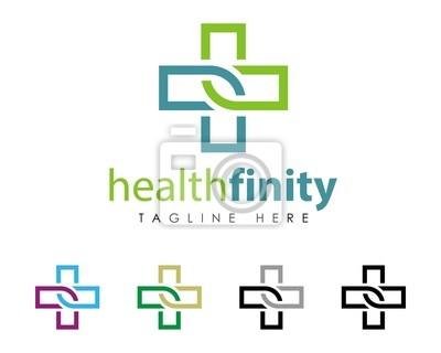 Gesundheitswesen kreuz-zeichen-logo-vorlage v.3 fototapete ...