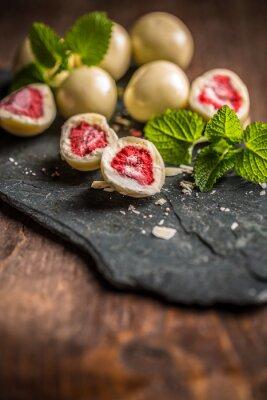 Fototapete Getrocknete Erdbeere