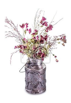 Getrocknete Vintage Blumenstrauss Fototapete Fototapeten Churn