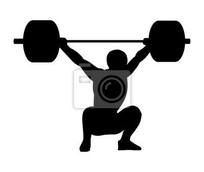 Gewichtheben. silhouette eines mannes. fototapete • fototapeten ...