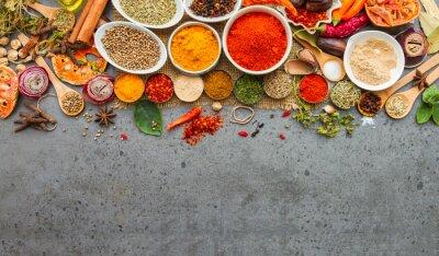 Fototapete Gewürze und herbs.Food und Küche Zutaten.