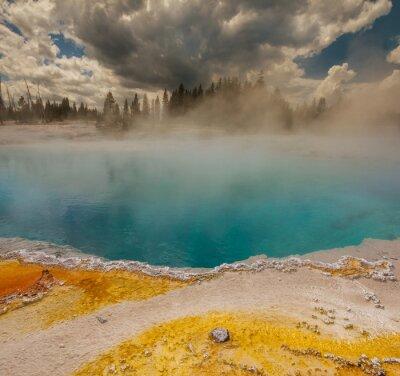 Fototapete Geysir in Yellowstone