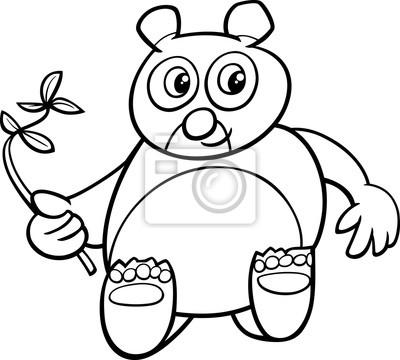 Giant panda coloring book fototapete • fototapeten Pandabären ...