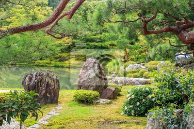 Ginkaku Ji Tempel Im Zen Garten Kyoto Japan Fototapete