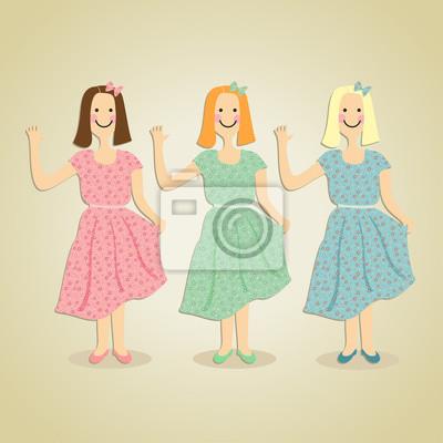 girls in dress