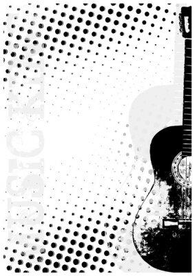 Gitarre dots poster background