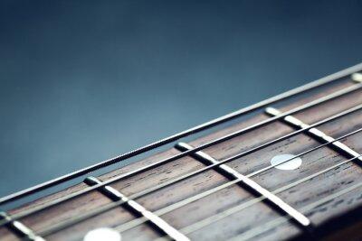 Fototapete Gitarrenhals Nahaufnahme