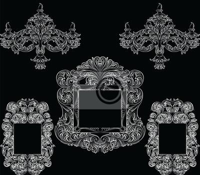 Glamorous rich barock rokoko möbel gesetzt. französisch luxus ...