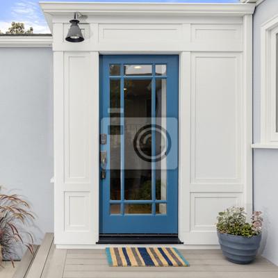 Häufig Glas eingangstür. haustür in lebhaftem blau mit gerahmtem glas BX54