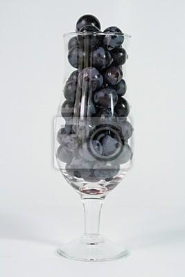 Glas und Trauben