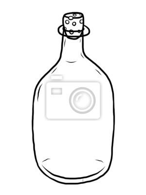 Fototapete Glasflasche mit Holzkorken