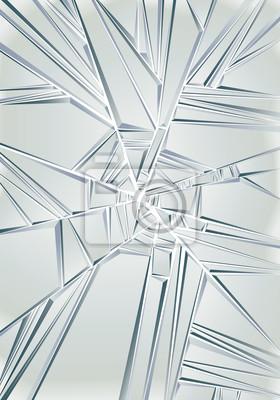 Fototapete Glasscherben. Vector Hintergrund.