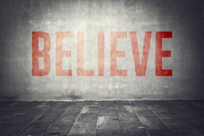 Fototapete Glauben Sie Nachricht auf der Wand
