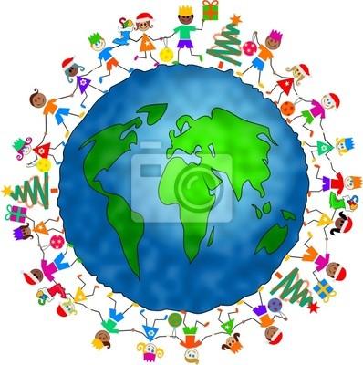 globalen Weihnachten Kinder