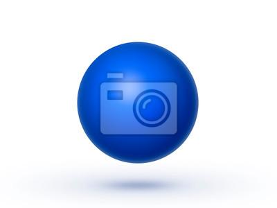 Fototapete Globe sphere or ball isolated on a white background. 3D illustration
