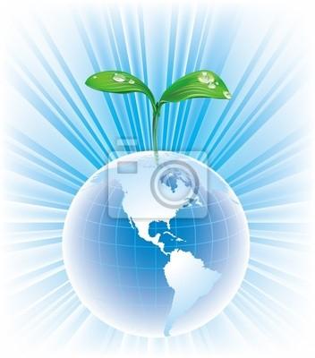 Globus mit Blättern