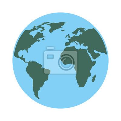 Karte Erde.Fototapete Globus Welt Planeten Karte Erde Bild Vektor Illustration