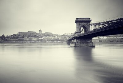 Fototapete Gloomy Winter Bild der ungarischen Sehenswürdigkeiten,