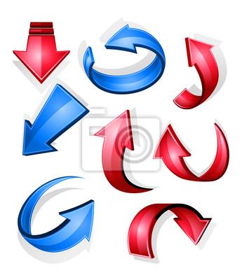 Glossy Pfeile und Symbole