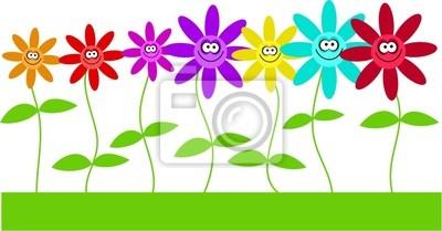 glücklich Blumen
