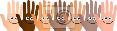 glücklich Hände
