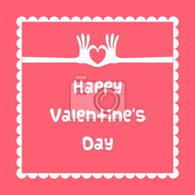 glücklich Valentinstag-Karte