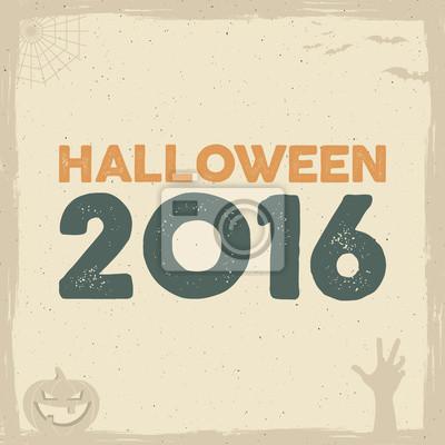 Glückliche halloween-plakatschablone mit feiertagsymbolen - hieb ...