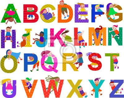 Glückliche Kinder Alphabet Set