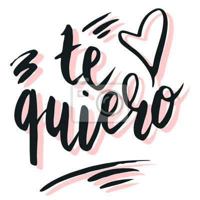 Gluckliche Valentinsgrussbeschriftung Te Quiero Ich Liebe Dich