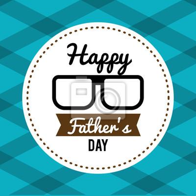 Glückliche Vatertag Karte Mit Brille Und Band Fototapete