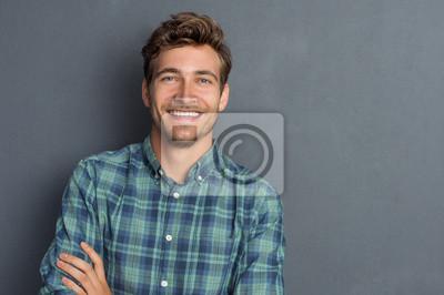 Fototapete Glücklicher lachender Mann