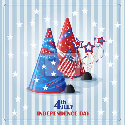 Glückwünsche Hintergrund auf den Tag der Unabhängigkeit.