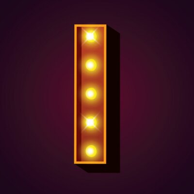 Glühbirne Alphabete