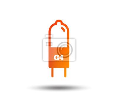 Glühbirne-symbol. lampe g4 sockelsymbol. led oder halogen licht ...