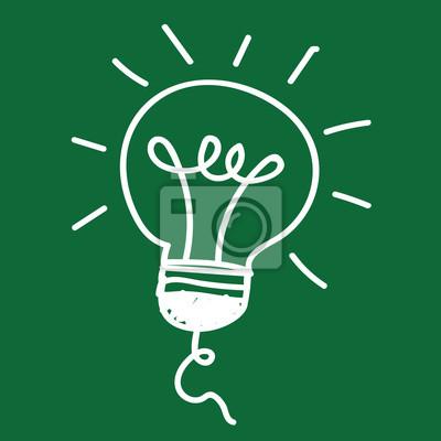 Glühbirne und led-lampe, birne icon, glühbirne, idee, symbol ...