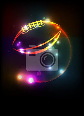 Glühende American Football Icon Hintergrund Illustration