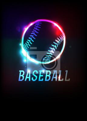Glühende Baseball-Ikonen-Hintergrund-Illustration