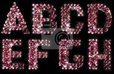 Glühende Süßigkeiten Alphabet