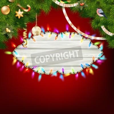 Weihnachtsbeleuchtung Kranz.Fototapete Glühende Weiße Weihnachtsbeleuchtung Kranz Für Weihnachtsfeiertag