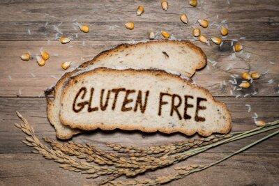 Fototapete Glutenfreies Logo gegrillt auf Brot