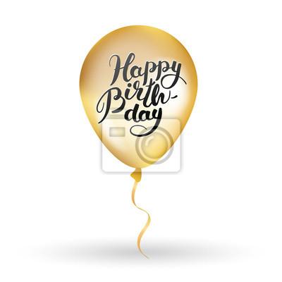 Gold Alles Gute Zum Geburtstag Ballon Fototapete Fototapeten Fur