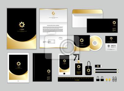 Gold Corporate Identity Vorlage Für Ihr Unternehmen Umfasst