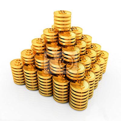 Gold Dollar Münzen Fototapete Fototapeten Löhne Wirtschaftlich