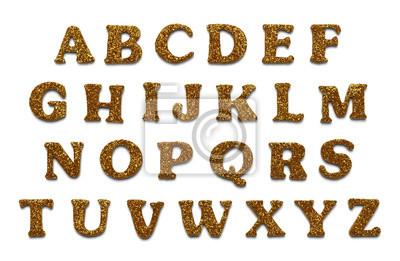 Gold Glitter Buchstaben