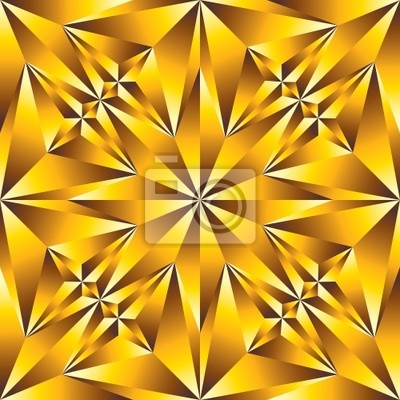 Fototapete Gold-konvexe Oberfläche nahtlose Muster.